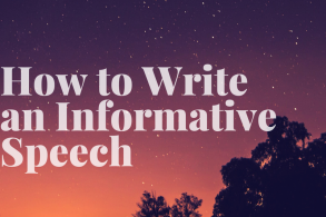 How to Write an Informative Speech