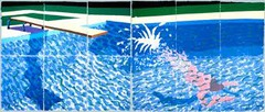 A diver, Paper Pool by Hockney