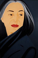 Alex Katz Black Scarf, 1995 Oil on canvas 72 x 48 inches