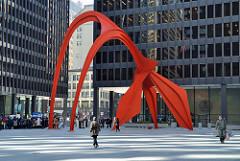 Alexander Calder Flamingo, 1974 Painted steel stabile 53-foot