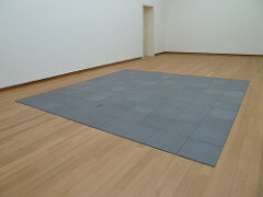 Carl Andre 144 Lead Square, 1969 Lead, 144 units  Overall 3/8