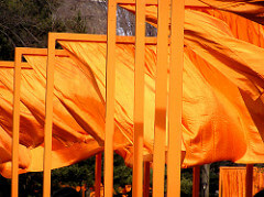 Christo The Gates, 2005 Vinyl gates with nylon fabric 7,503 vinyl