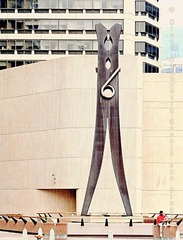 Clothespin  Claes Oldenburg Late 20th Century Swedish American  Critical/humorous attitude towards pop art.   Also did