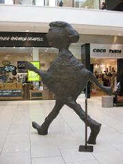 Donald Baechler Walking Figure, 2004 Cast bronze 120.1 x 86.6 x 15.7 inches
