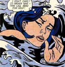 Drowning Girl by Lichtenstein