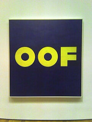 Ed Ruscha OOF, 1963 Oil on canvas  71 1/2 X 67 inches