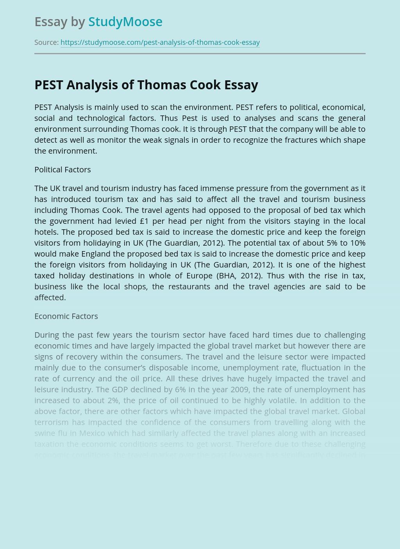 PEST Analysis of Thomas Cook