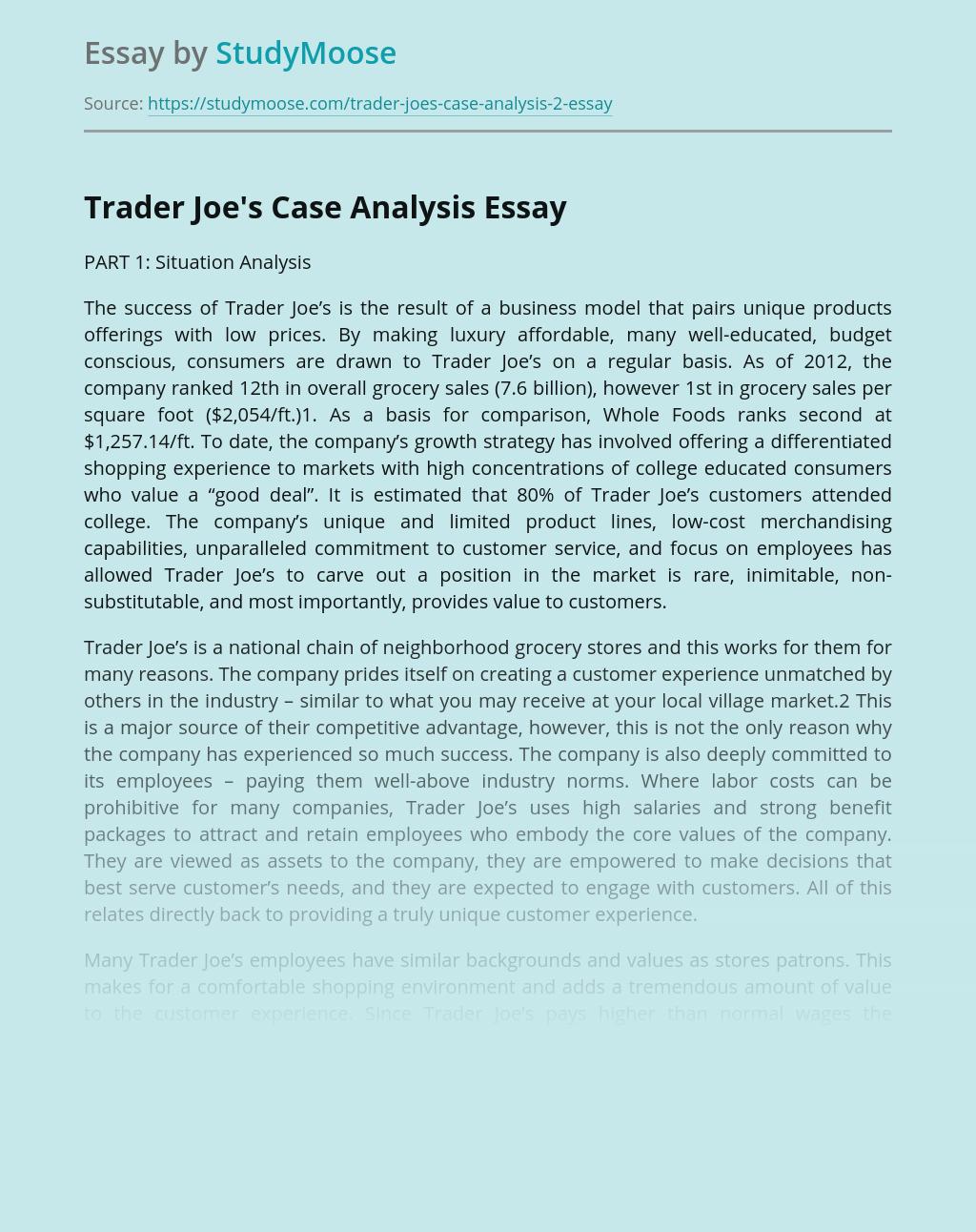 Customer Focus of Trader Joe's