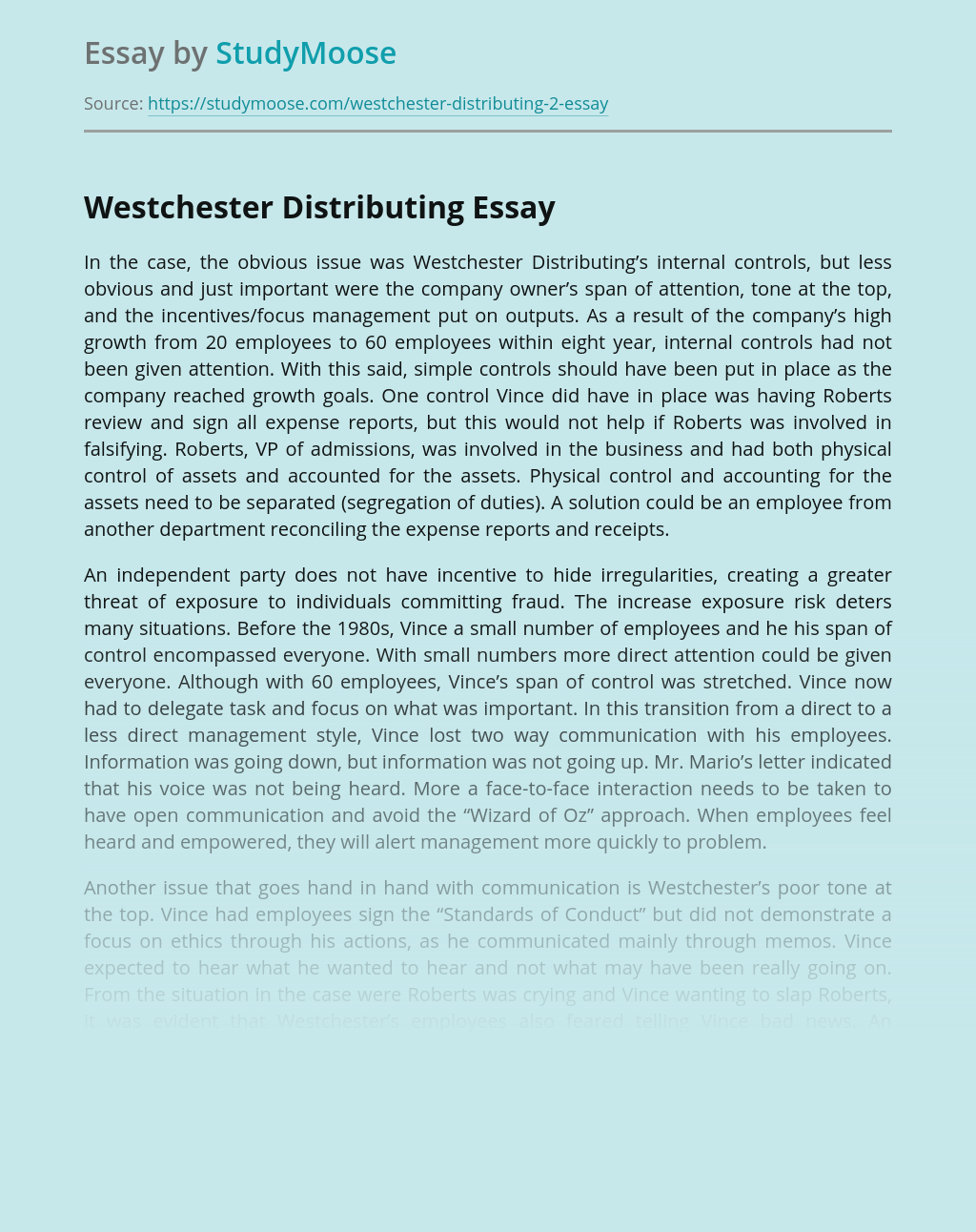 Westchester Distributing