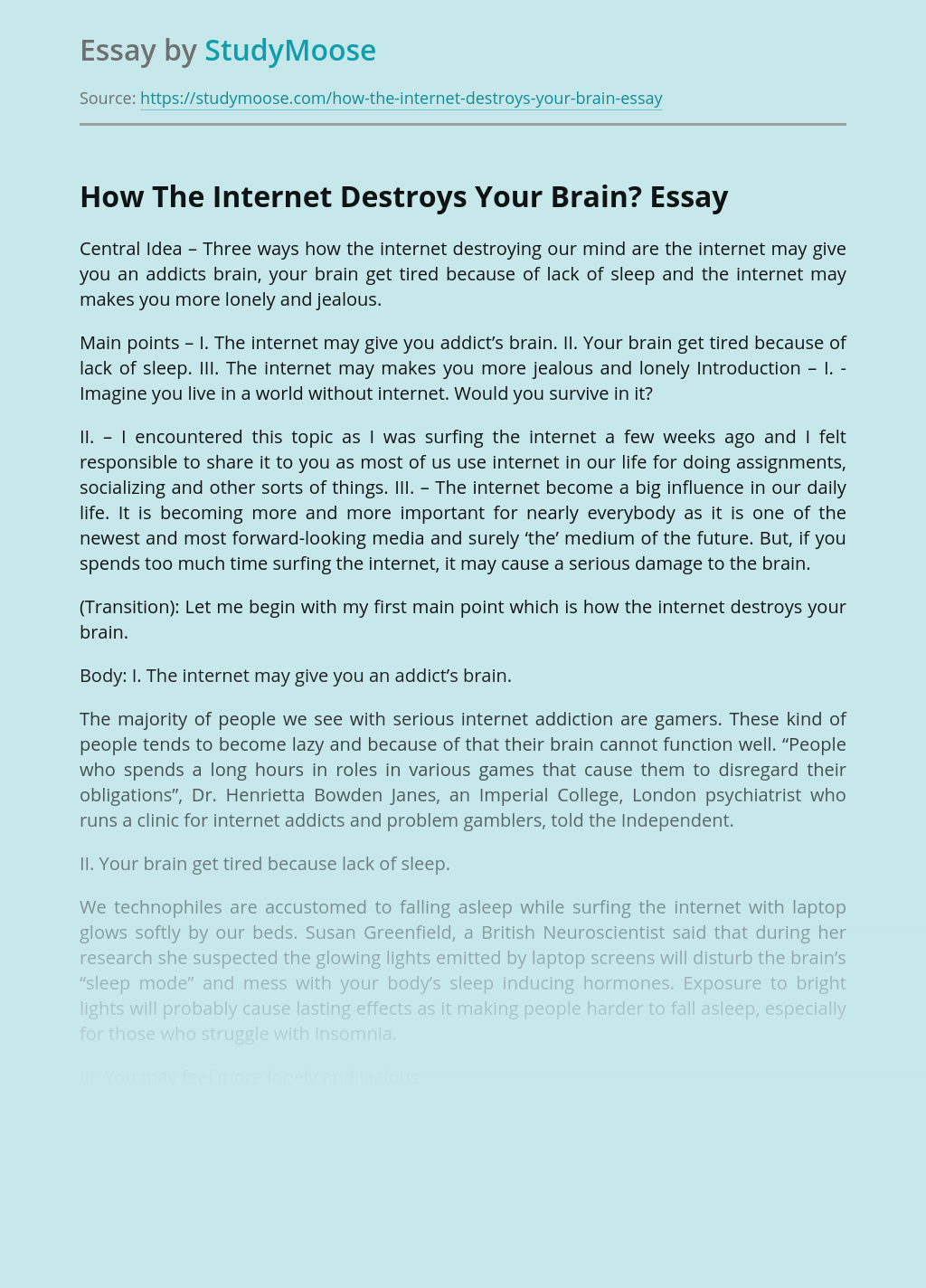 How The Internet Destroys Your Brain?