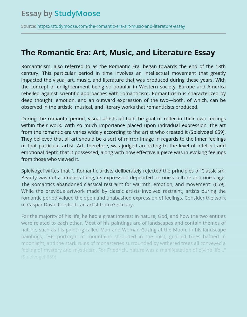 The Romantic Era: Art, Music, and Literature