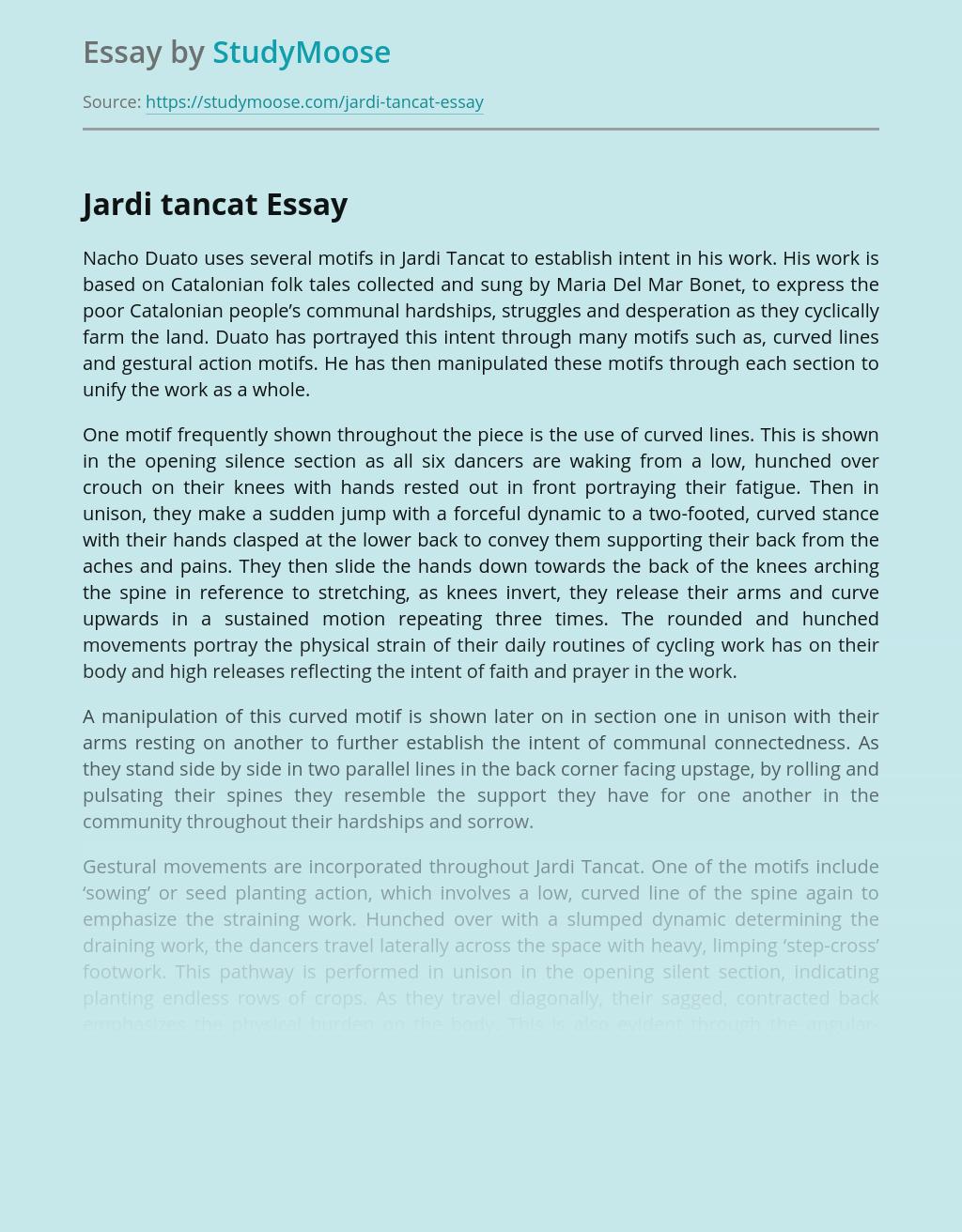 Jardi Tancat by Nacho Duato