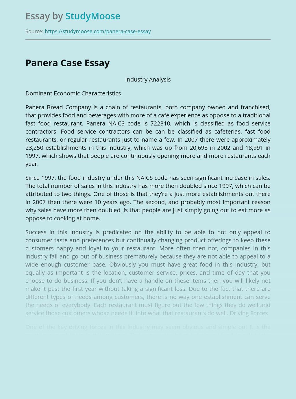 Panera Case