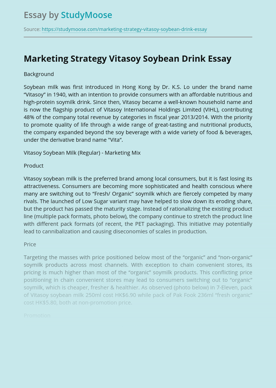 Marketing Strategy Vitasoy Soybean Drink