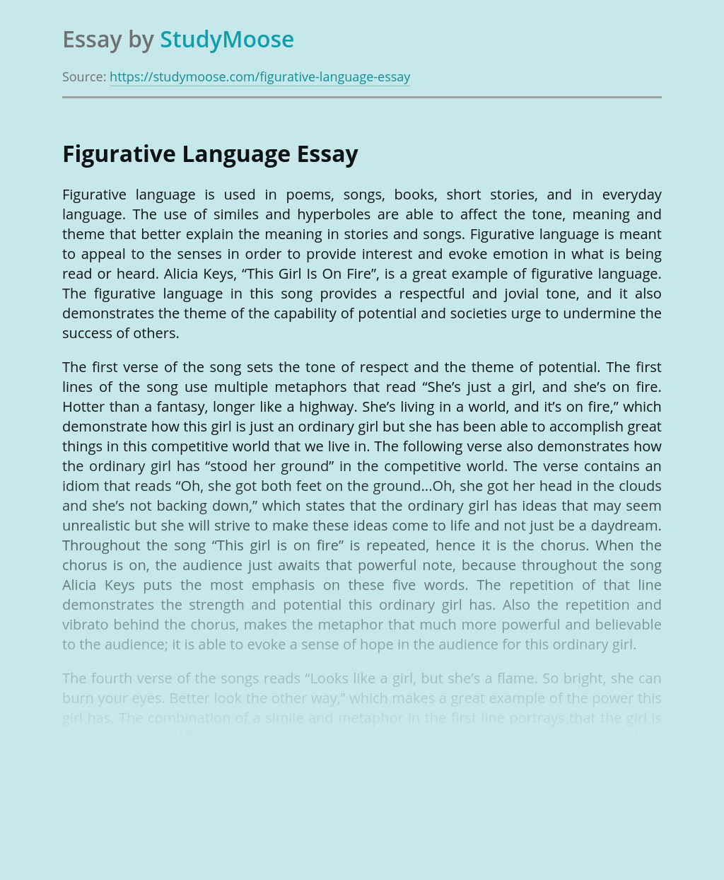 Figurative Language Use and Examples
