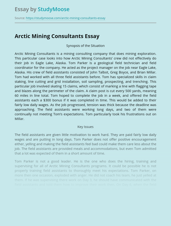 Mining Exploration of Arctic Mining Consultants