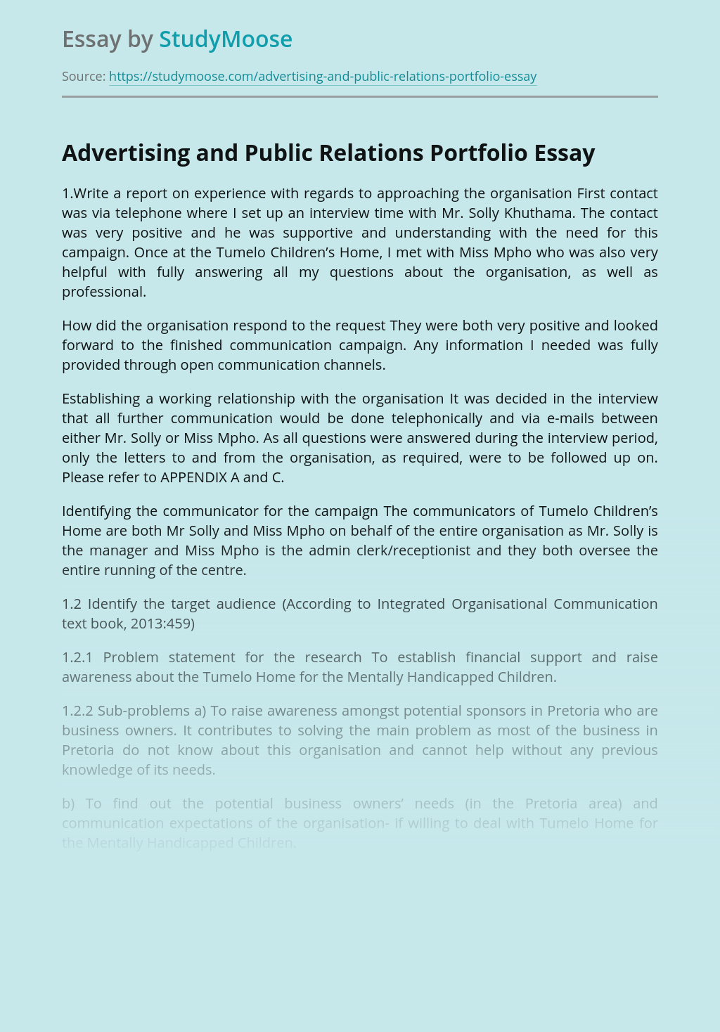 Campaign integration essays singapore resume format download