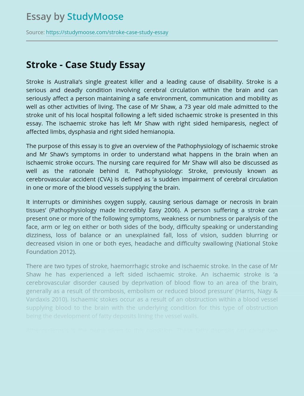 Stroke - Case Study