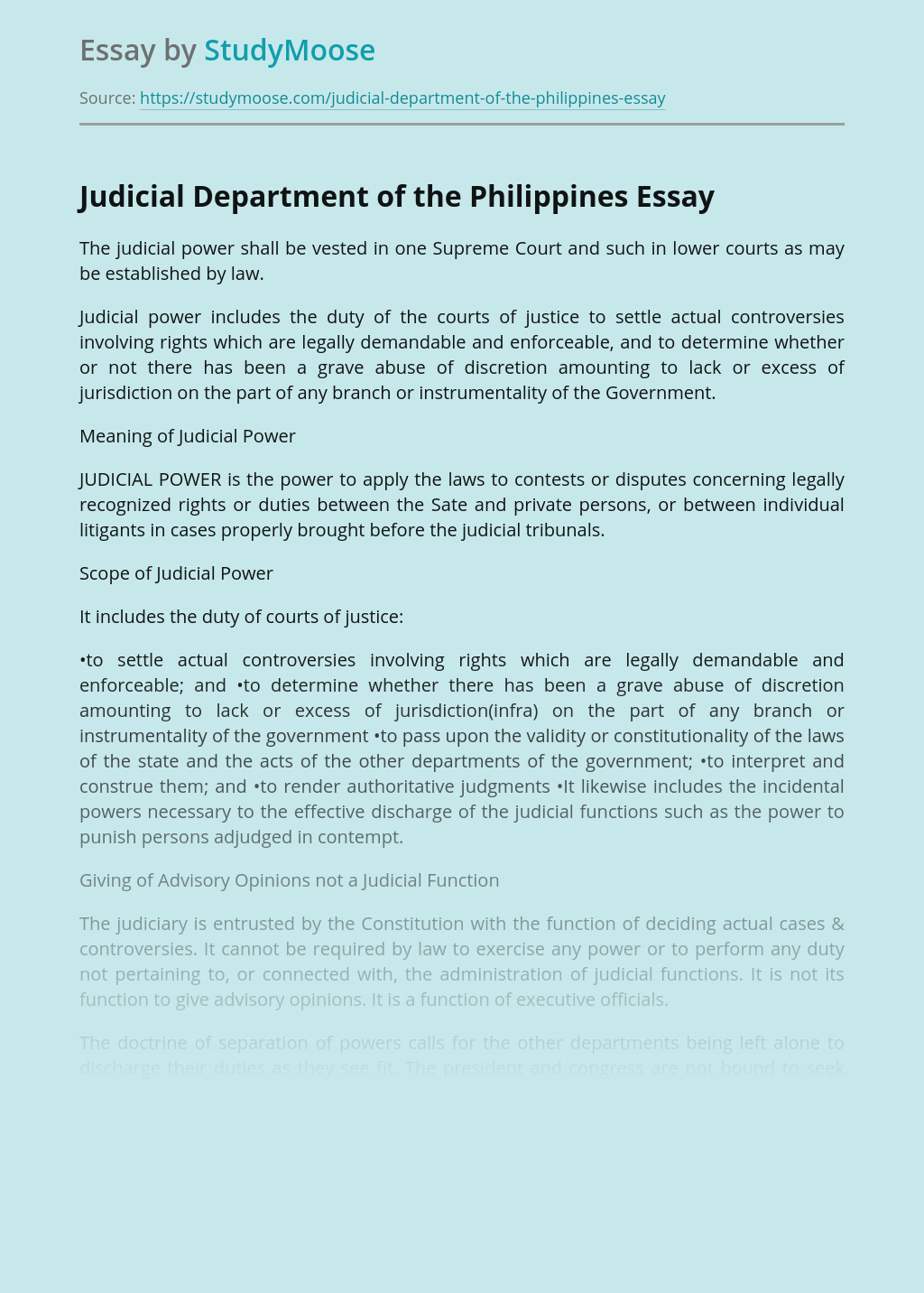 Judiciary in the Philippines