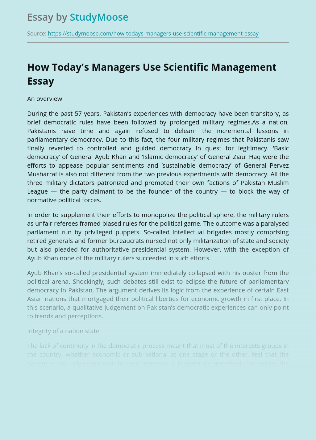How Today's Managers Use Scientific Management