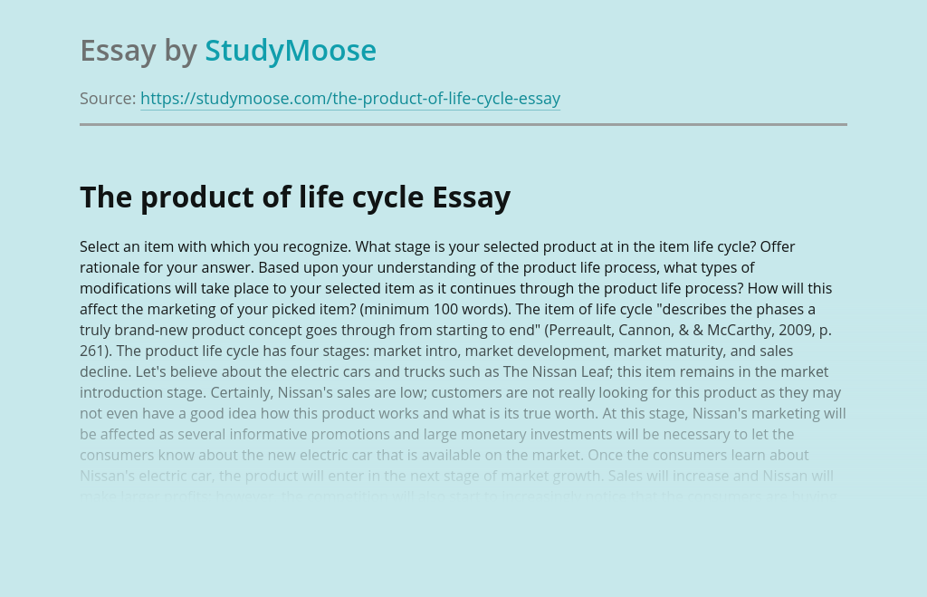 The product of life cycle
