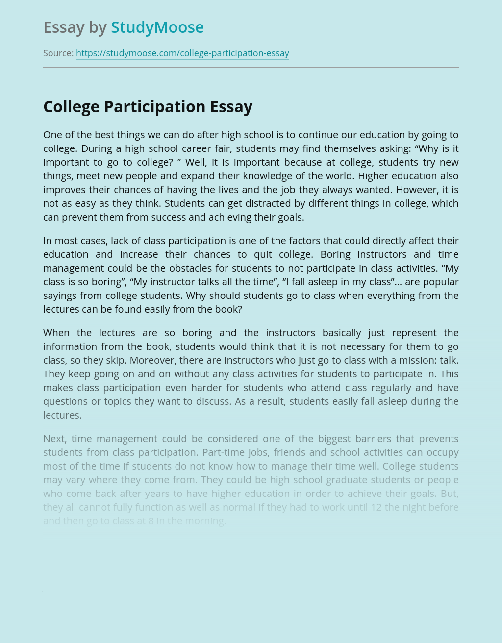 College Participation