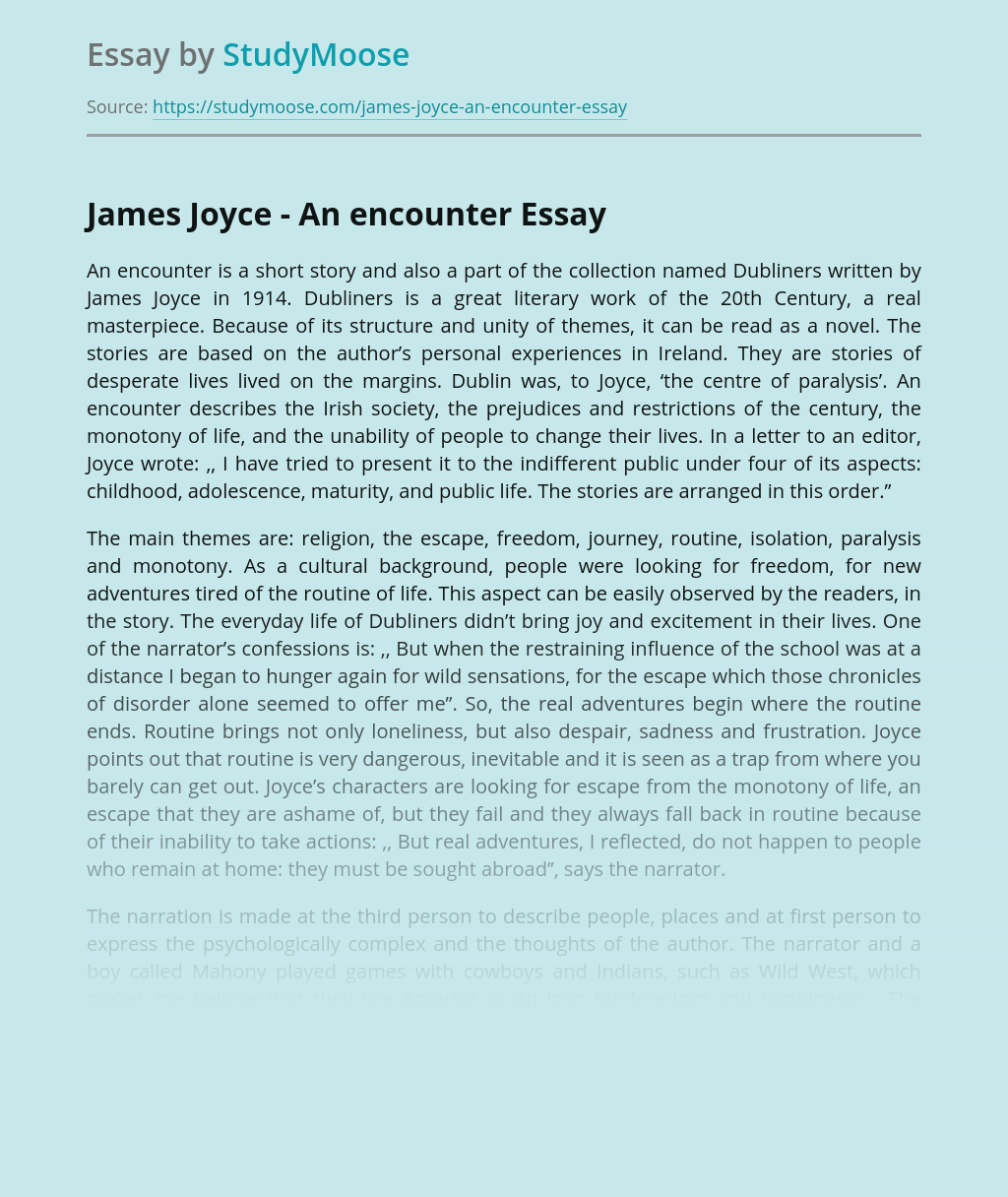 James Joyce - An encounter