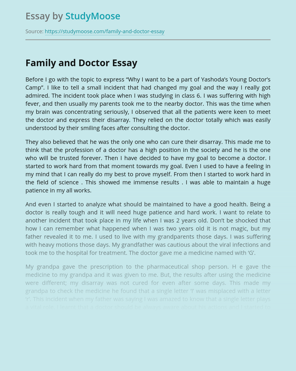 Family and Doctor