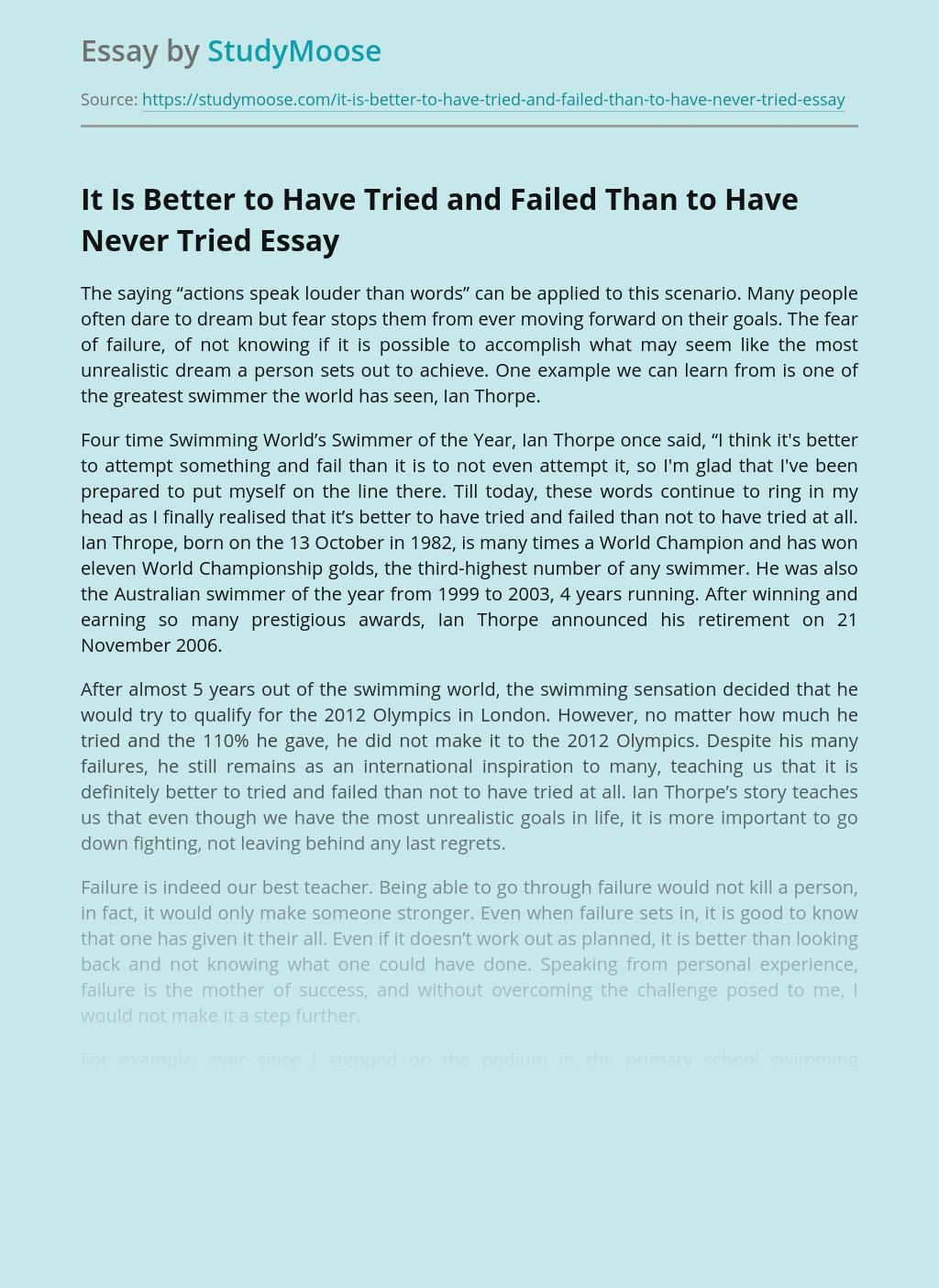 Failure leading to success essays nih biosketch how to write