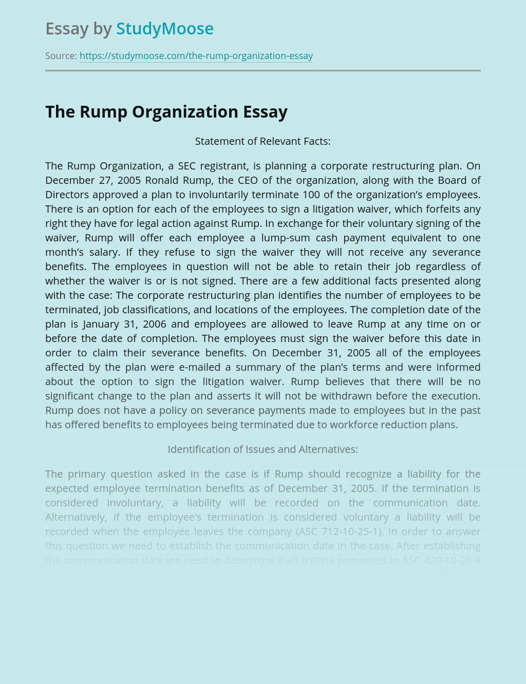 The Rump Organization