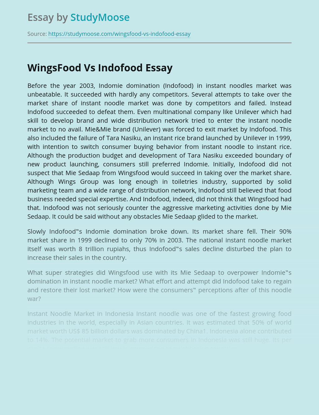 Brands WingsFood Vs Indofood