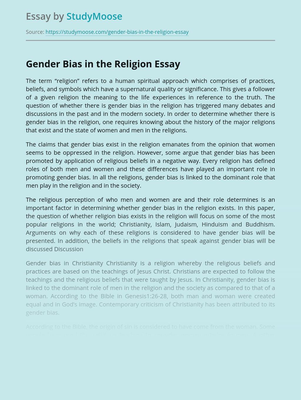 Gender Bias in the Religion