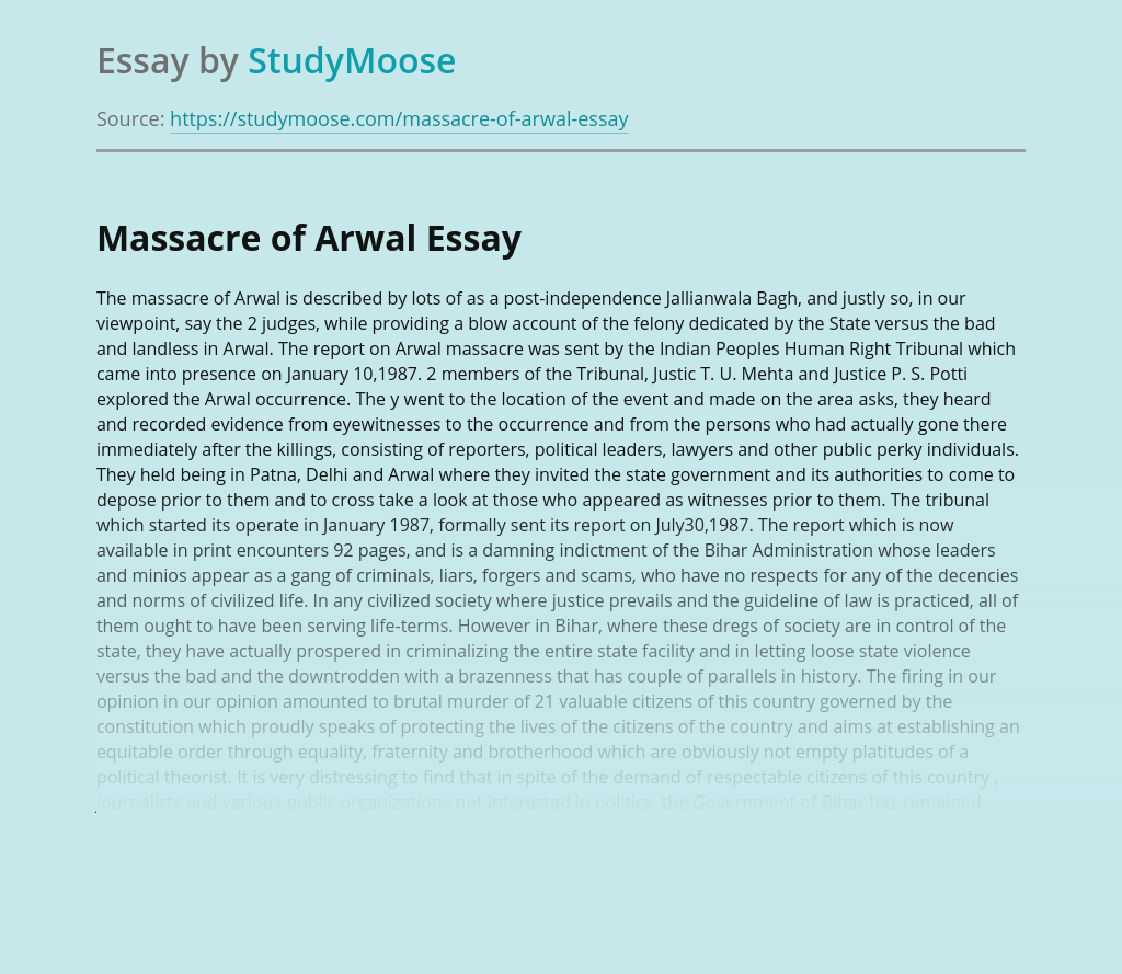Massacre of Arwal