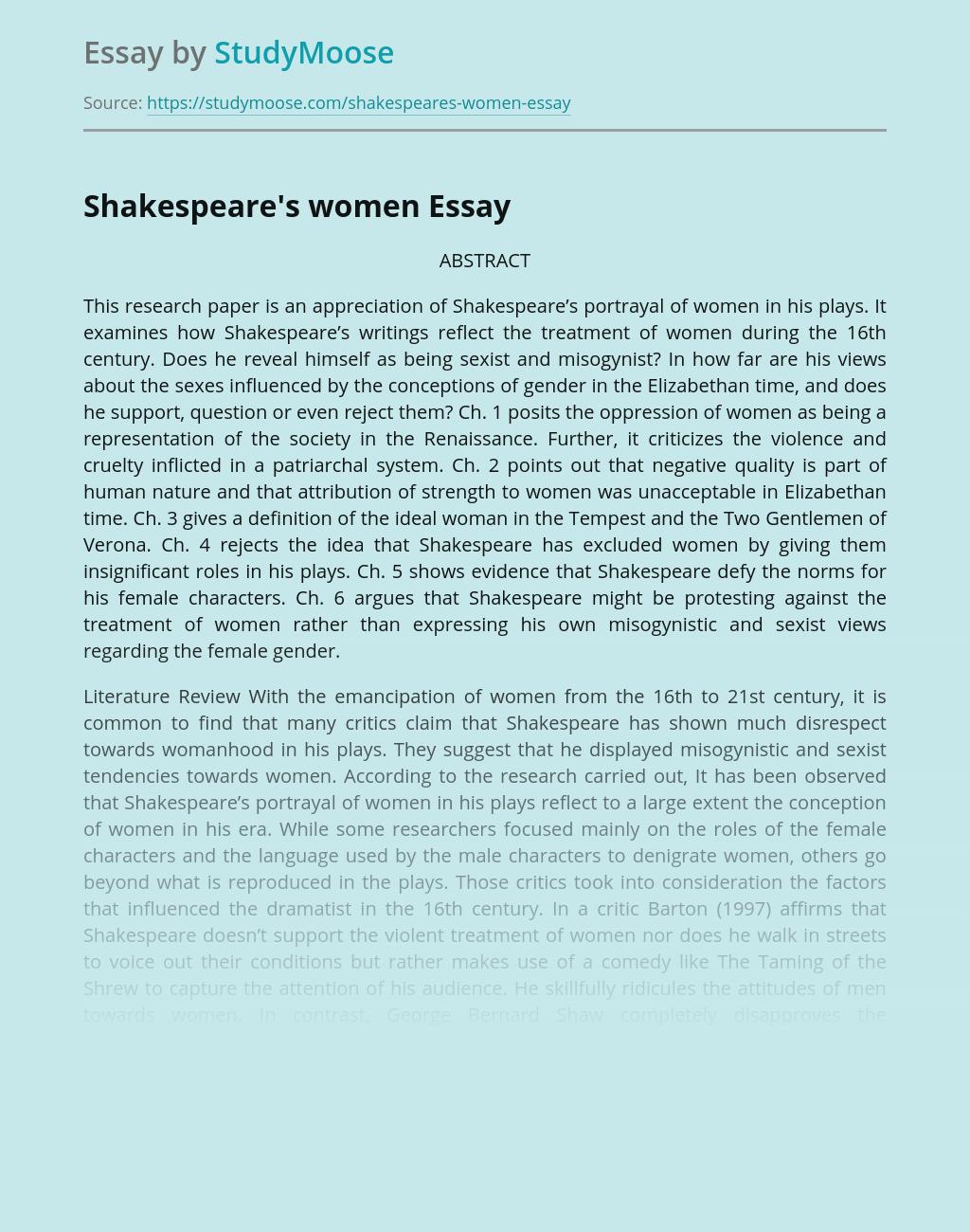 Shakespeare's women
