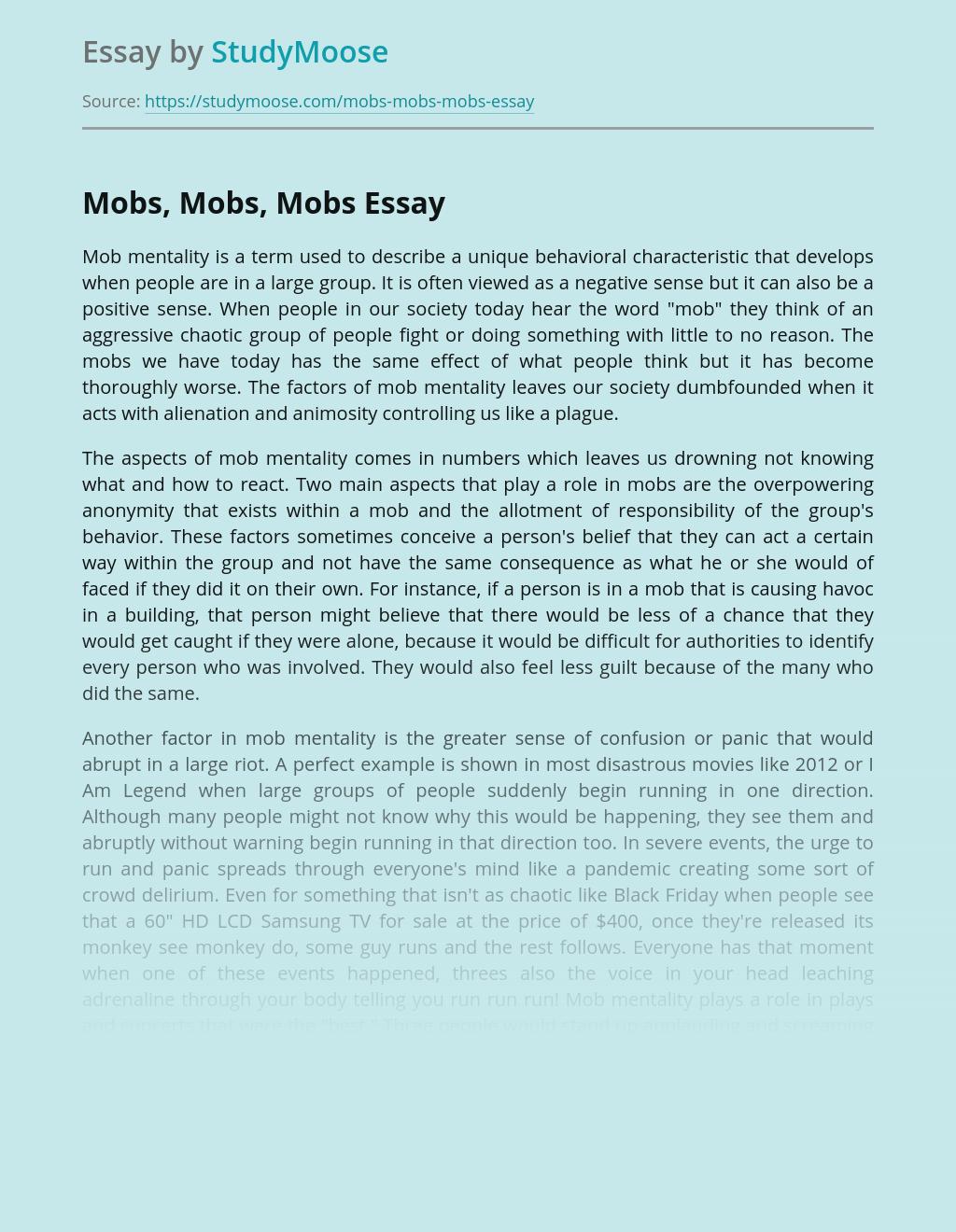 Mobs, Mobs, Mobs