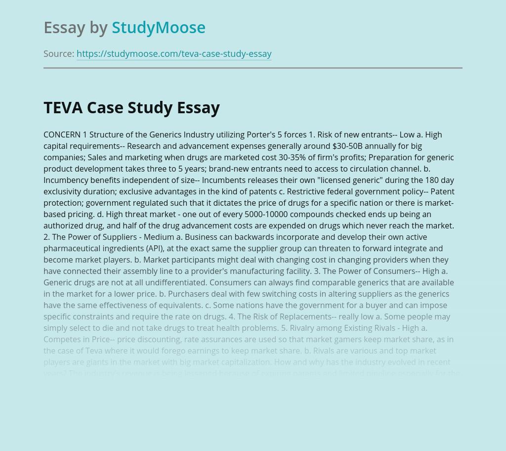 TEVA Case Study