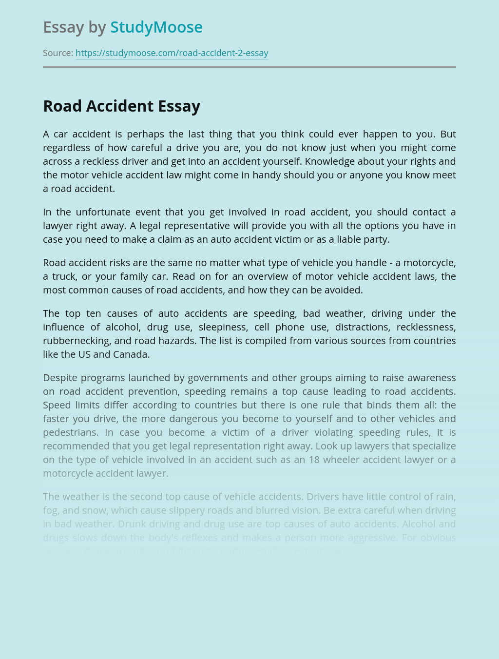 Road Cars Accident