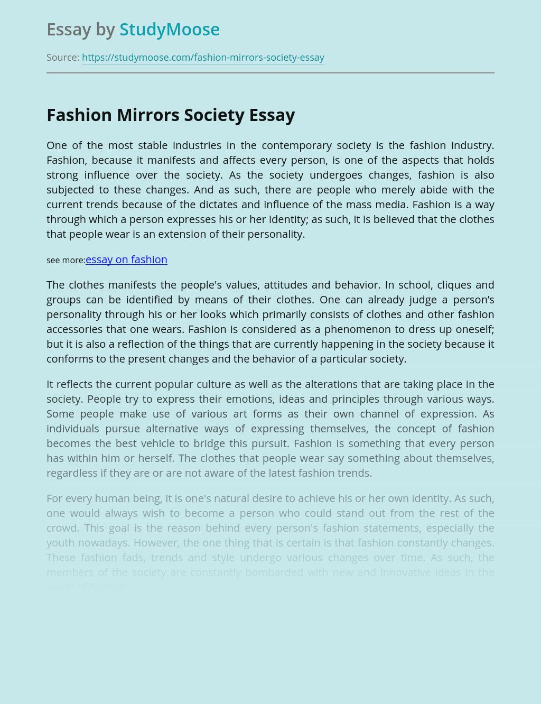 Fashion Mirrors Society