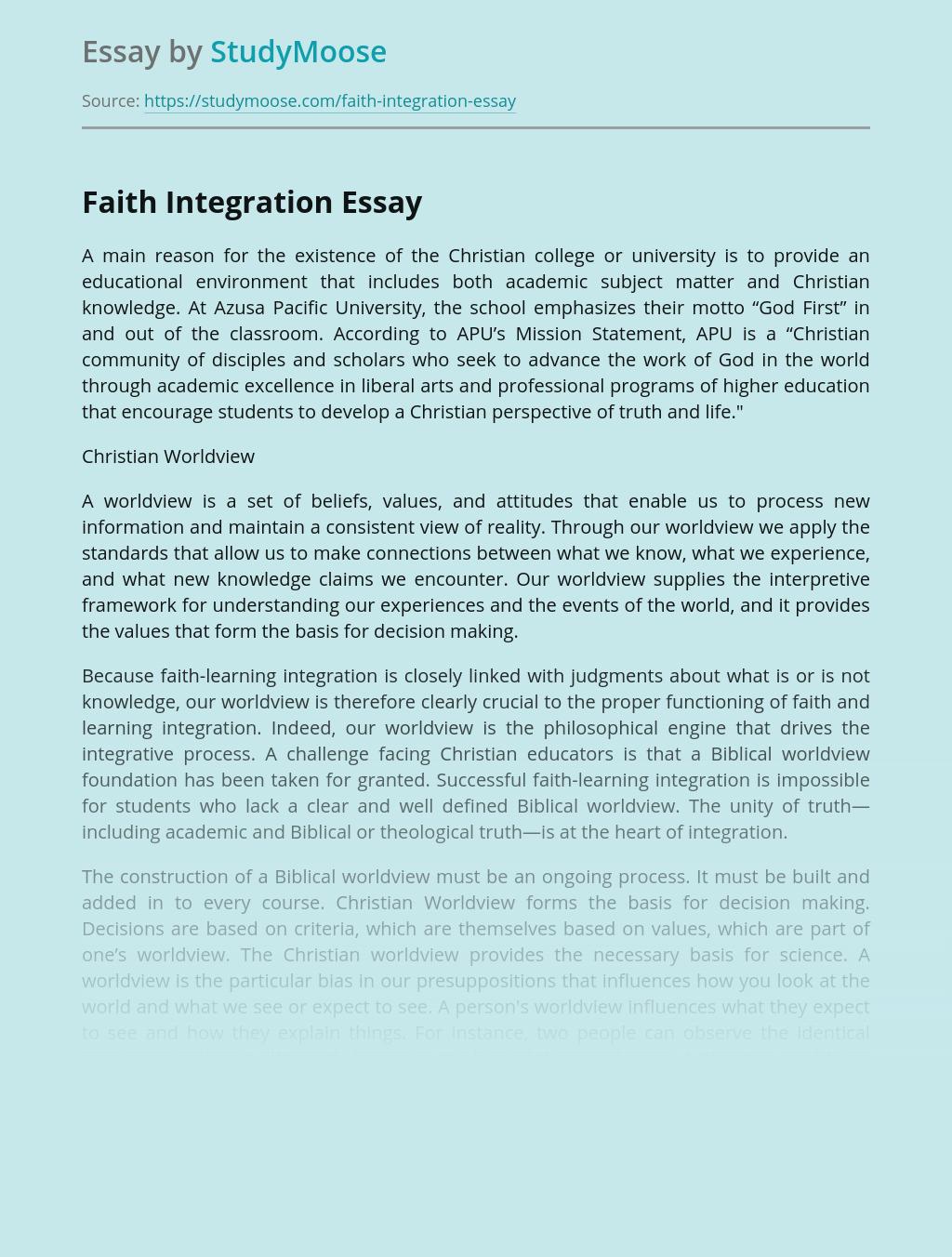 Faith Integration