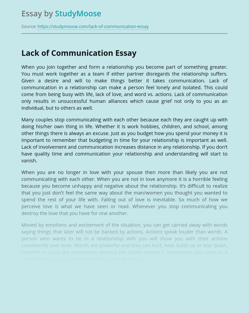 Thesis statement for lack of communication order top analysis essay on donald trump