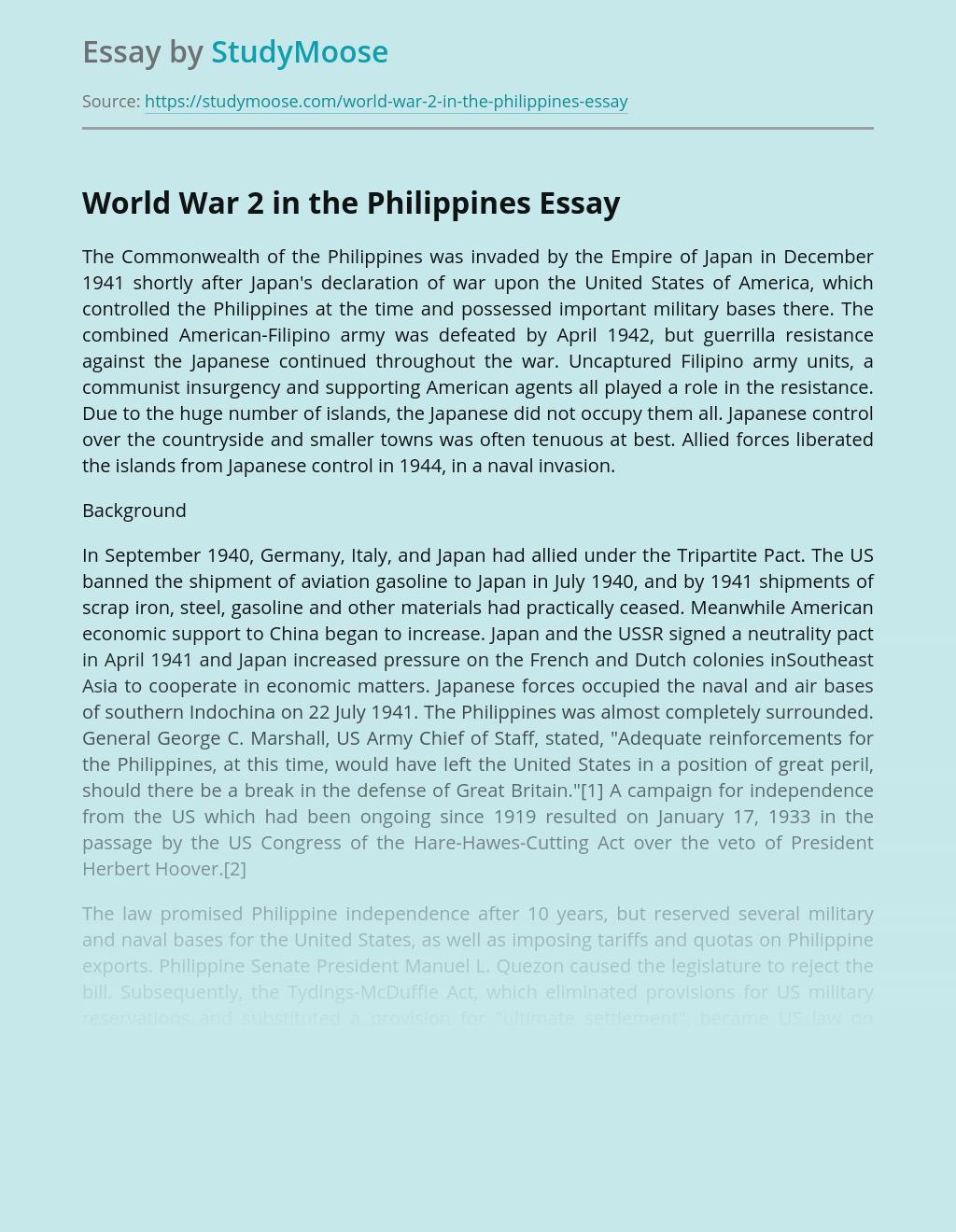World War 2 in the Philippines
