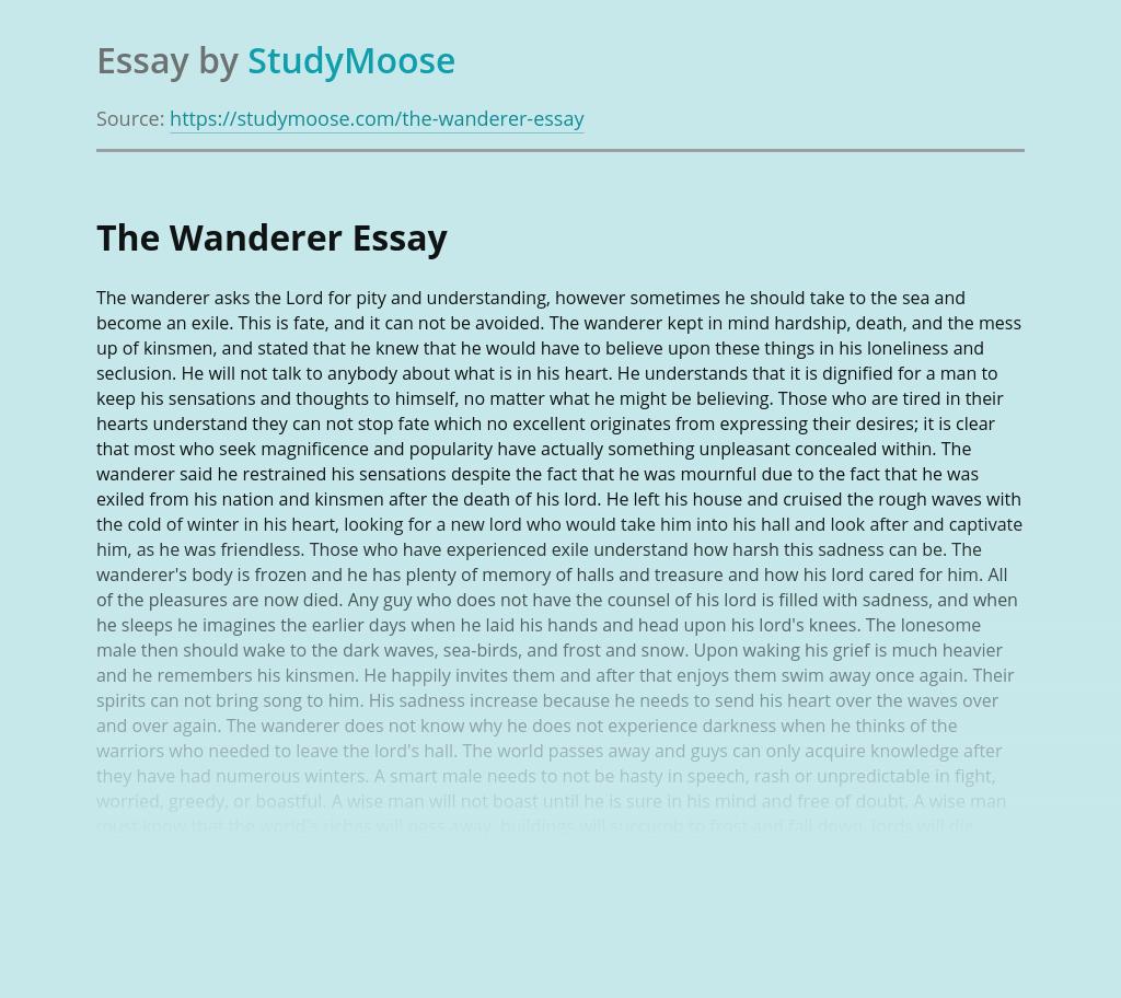"Anglo-Saxon poem ""The Wanderer"""