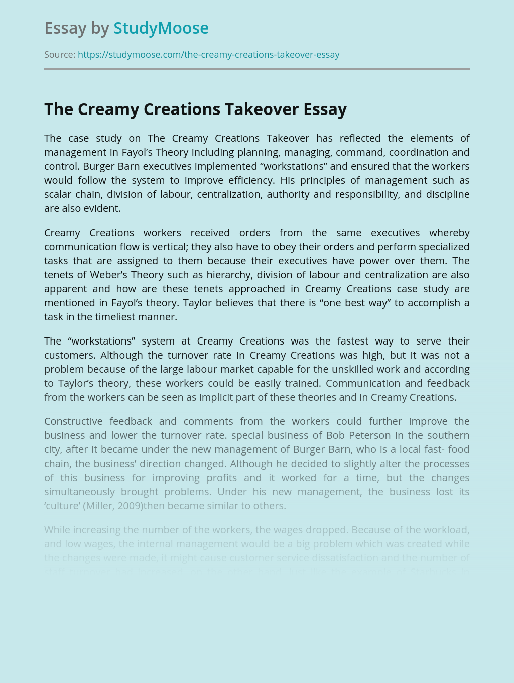 The Creamy Creations Takeover