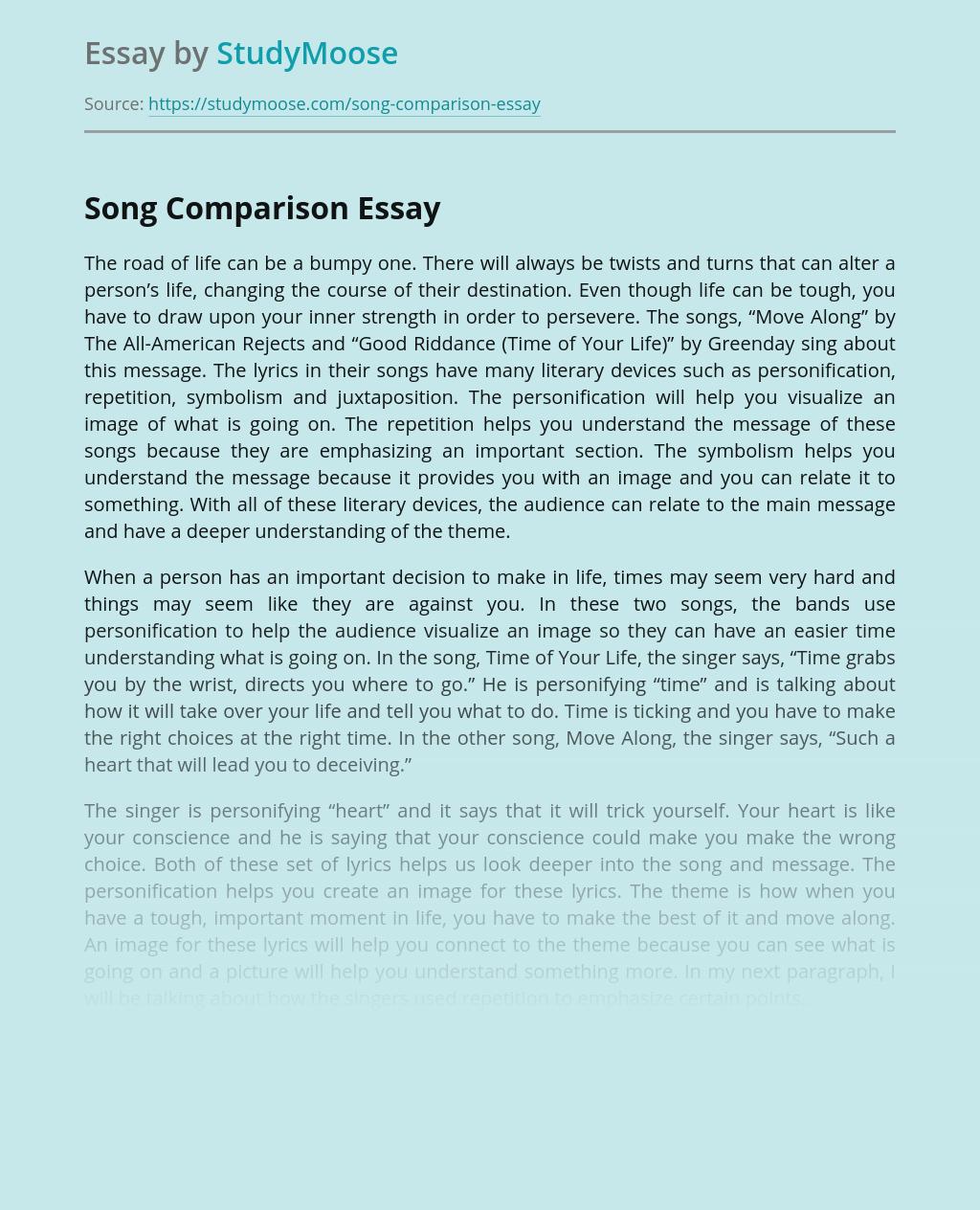 Song Comparison