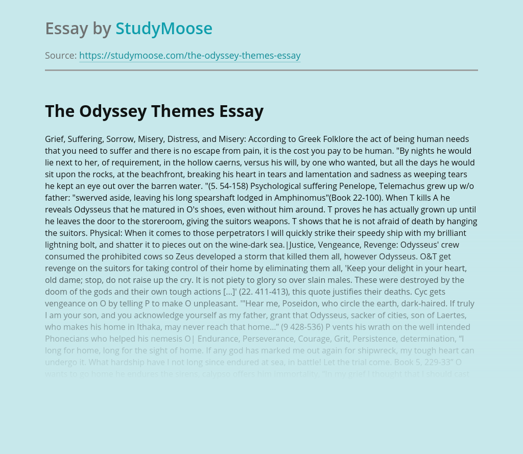 The Odyssey Themes