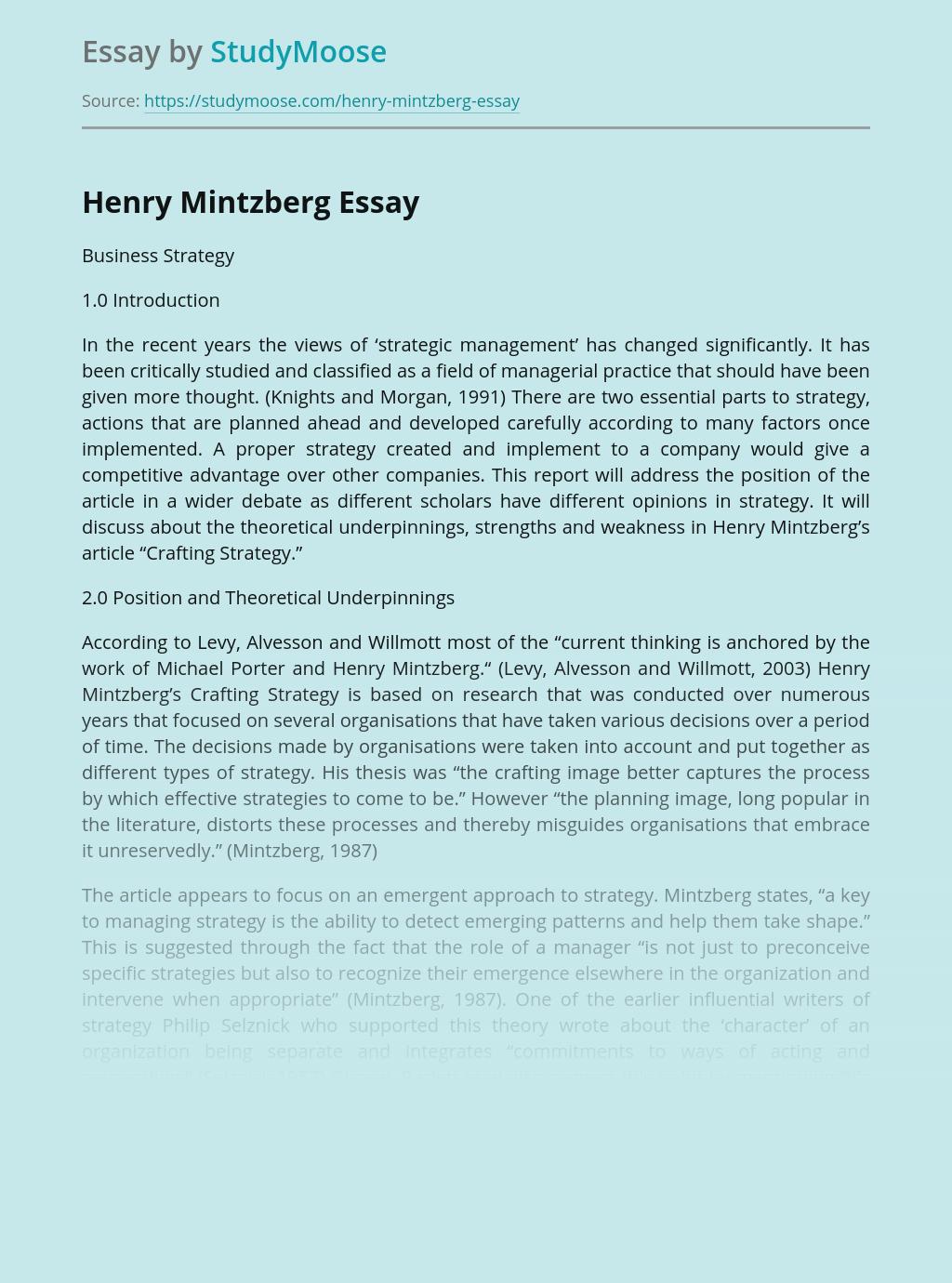 Henry Mintzberg