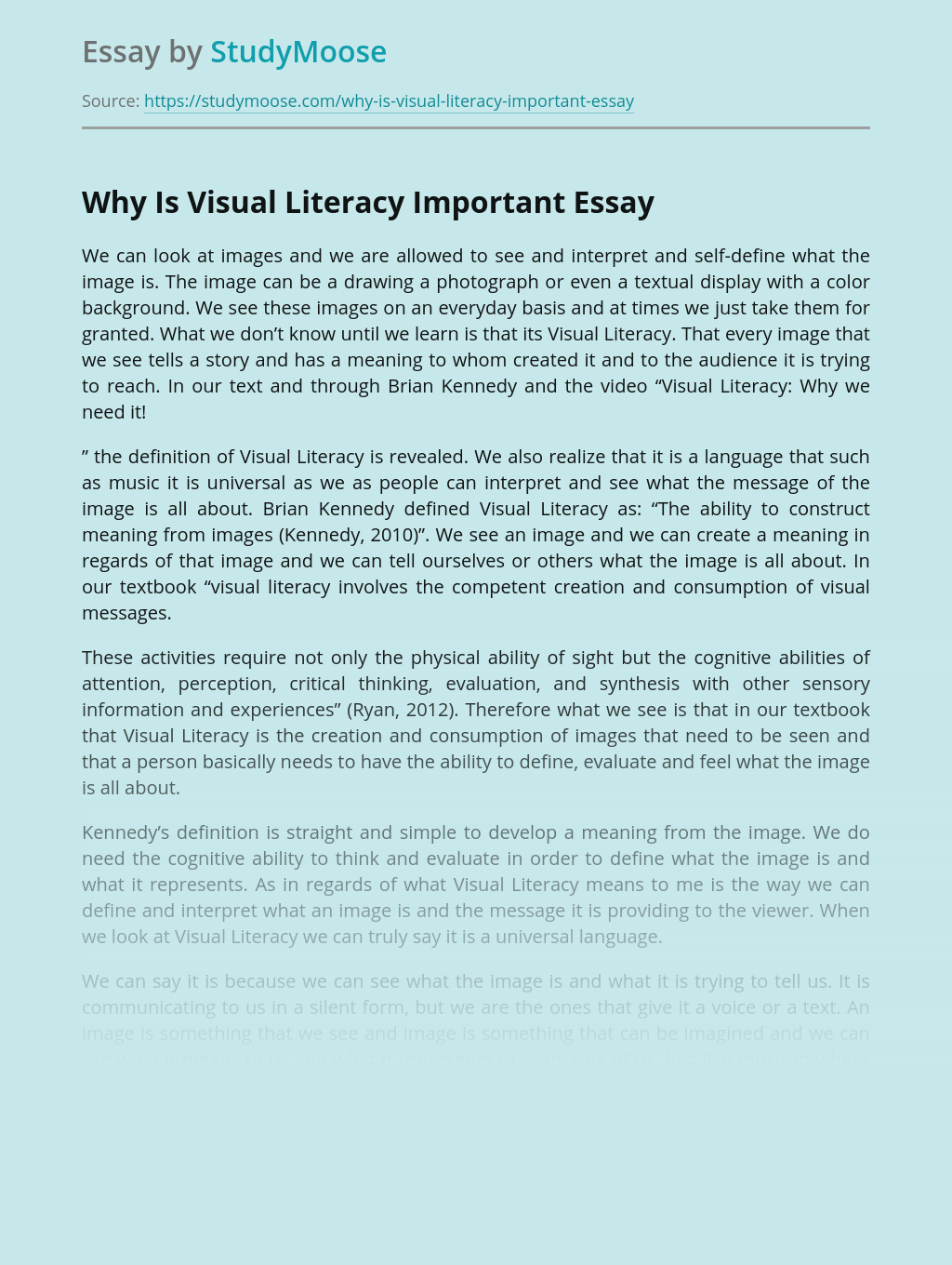 Why Is Visual Literacy Important