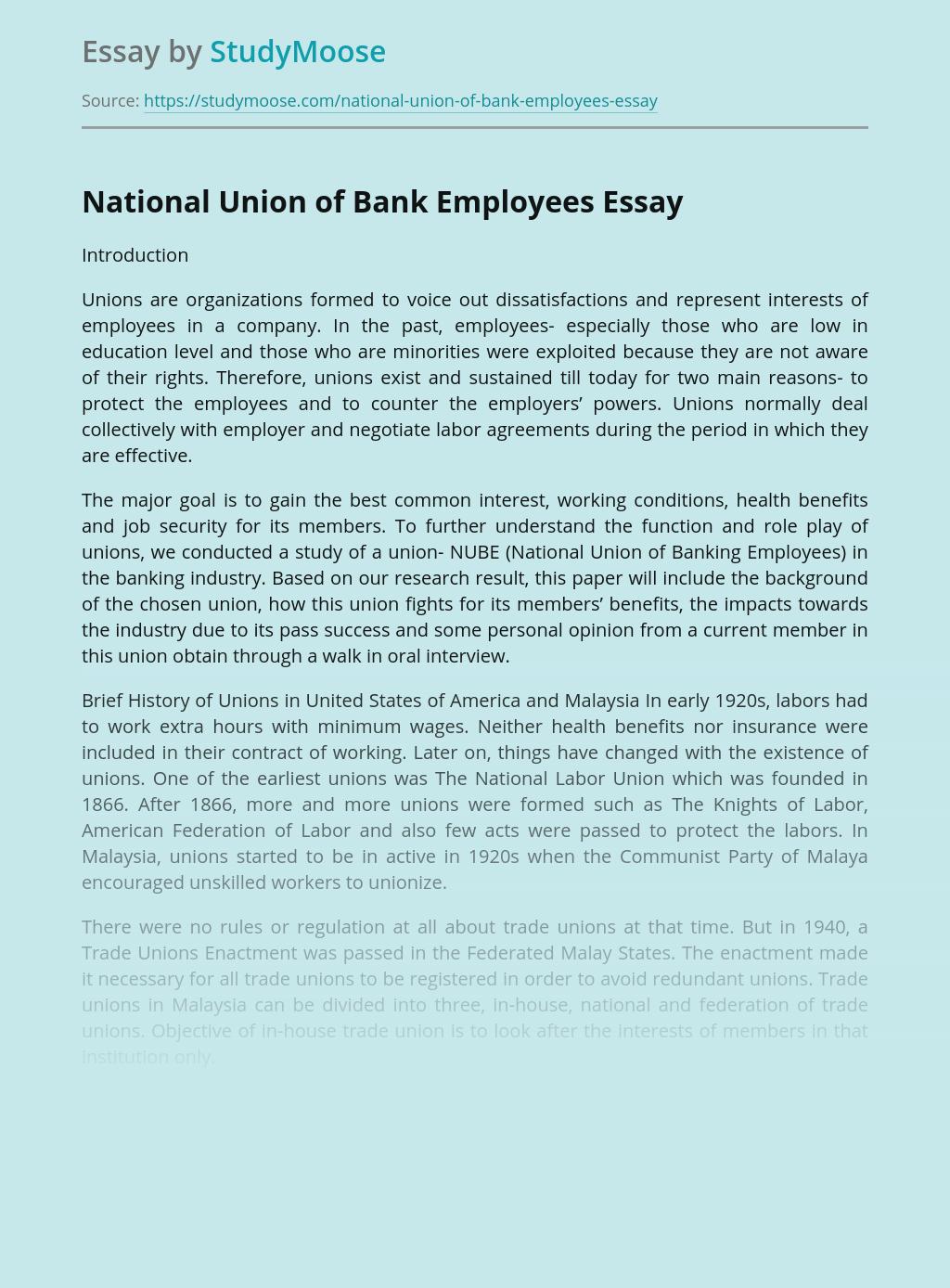 National Union of Bank Employees