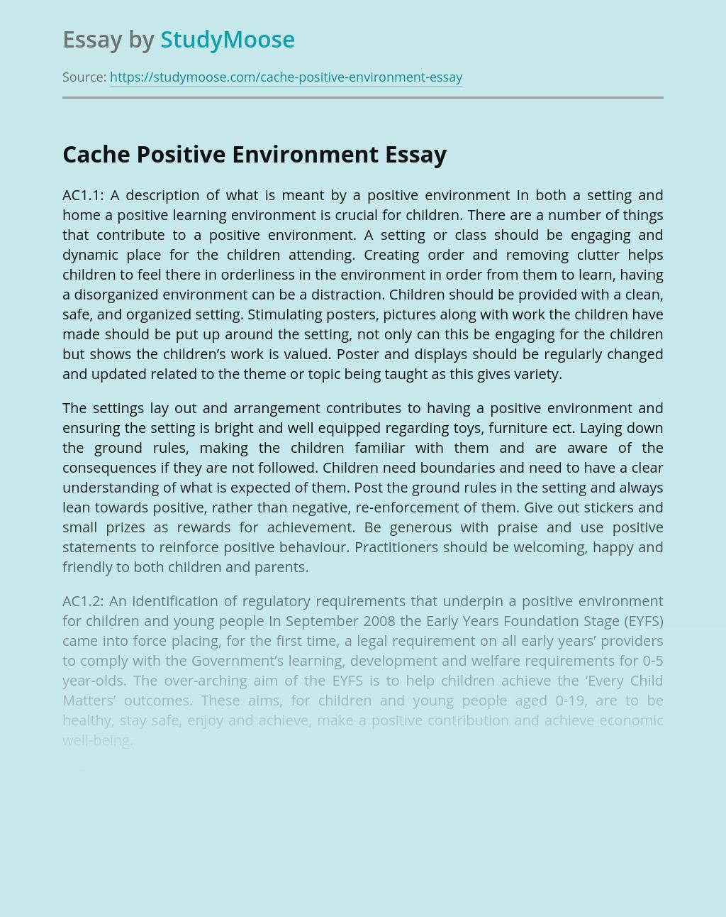 Cache Positive Environment