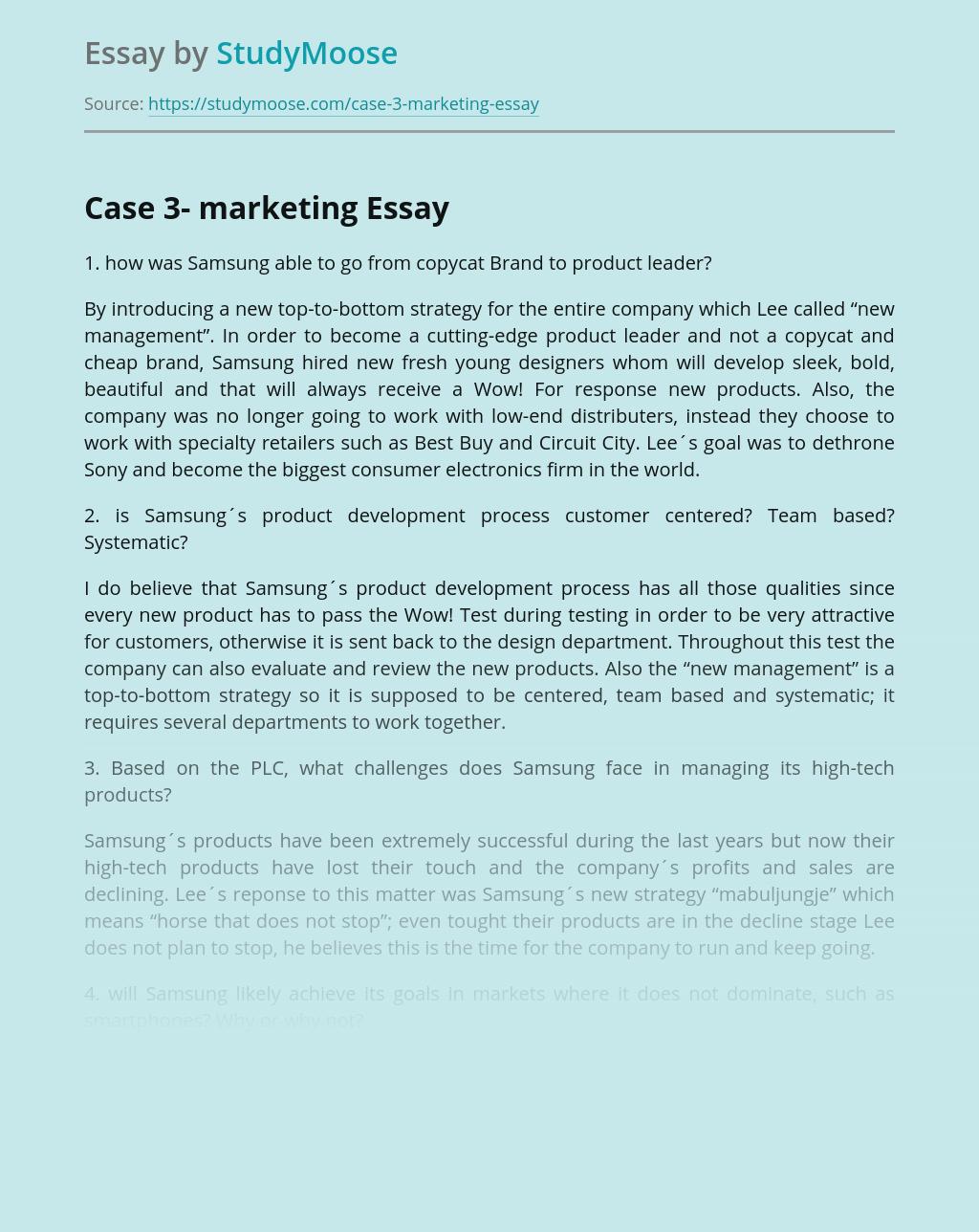 Case 3- marketing